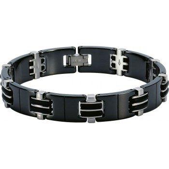 bracelet magnum acier et céramique